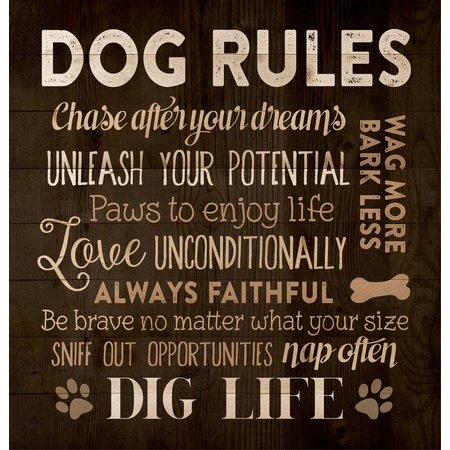 P. Graham Dunn Dog Rules Box Sign