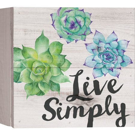 P. Graham Dunn Live Simply Box Sign