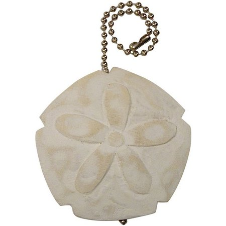 T.I. Design White Washed Sand Dollar Fan Pull