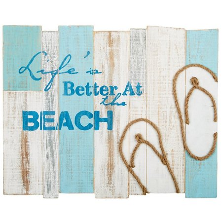 Fancy That High Tide Flip Flop Beach Plaque