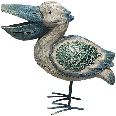 Fancy That 10'' Blue Mosaic Pelican Figurine