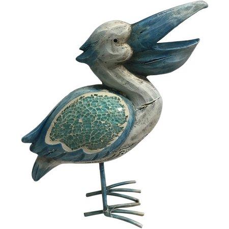Fancy That 7'' Blue Mosaic Pelican Figurine