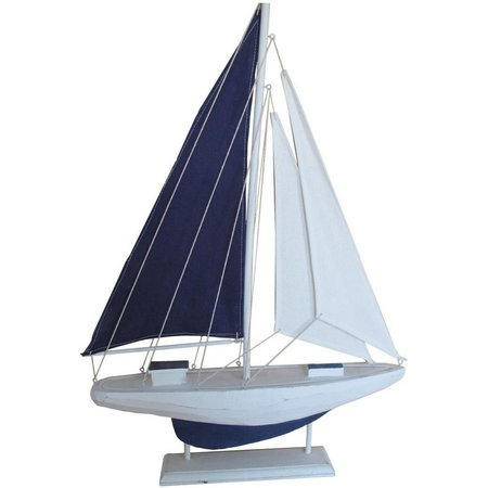 Fancy That Navy Blue Sailboat Figurine