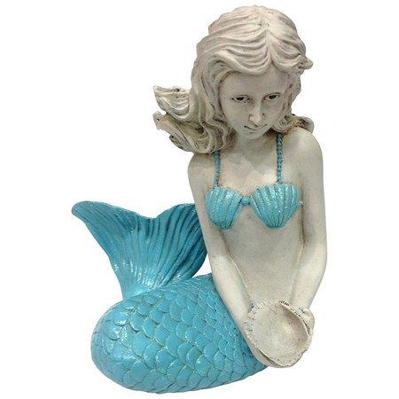 Fancy That Blue Sitting Mermaid Figurine