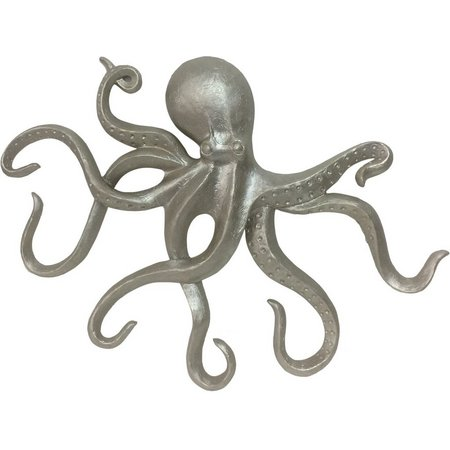 Fancy That Silver Sea Octopus Wall Decor