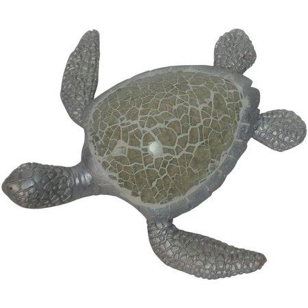 Fancy That Silver Sea Mosaic Turtle Figurine