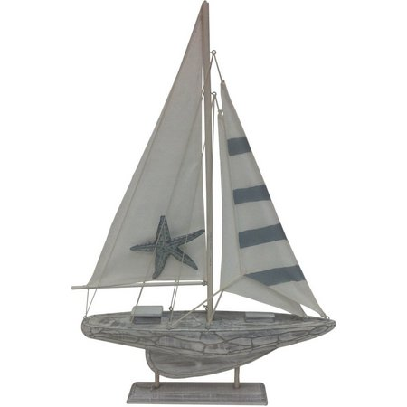 Fancy That Silver Sea Starfish Sailboat Figurine