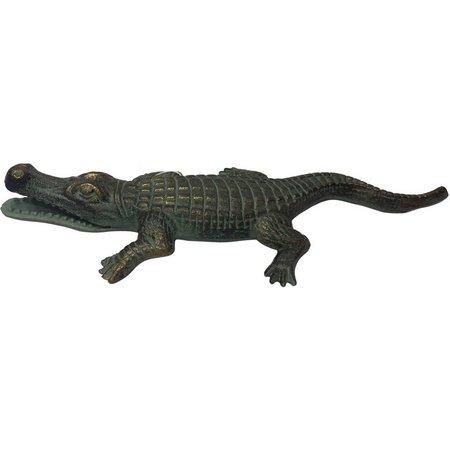 Fancy That Large Iron Alligator Figurine