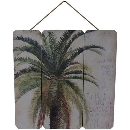 Fancy That Palm Tree Plank Wood Plaque
