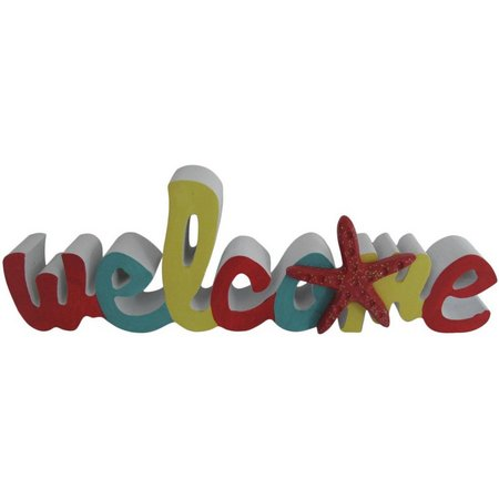 Fancy That Welcome Wood Cut Out Sign