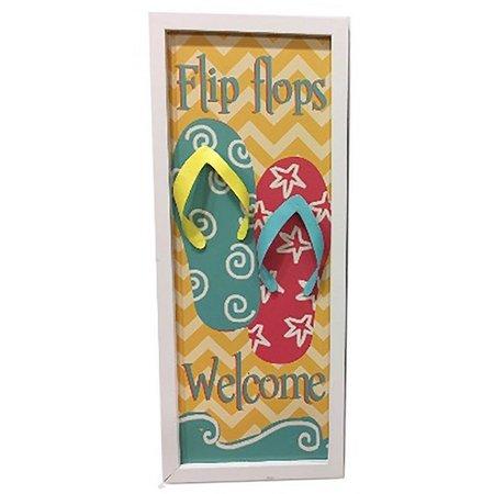 Fancy That Flip Flop Welcome Plaque