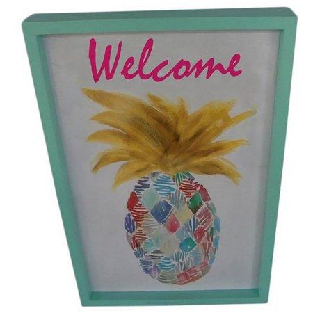 Fancy That Flamingo Flair Pineapple Shadow Box