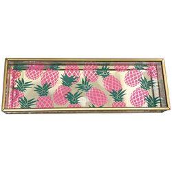 Fancy That Flamingo Flair Pineapple Jewelry Box