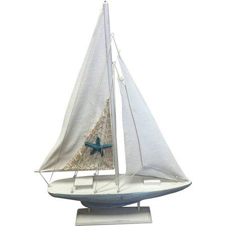 Fancy That Seafoam Mist Large Natural Sailboat Figurine