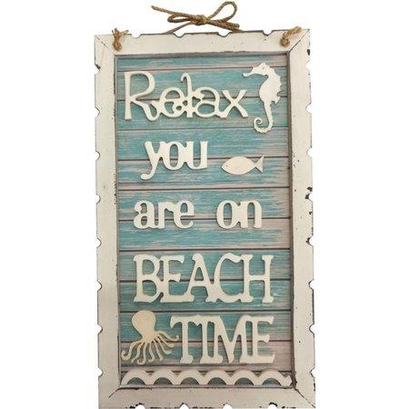 Fancy That Seafoam Mist Beach Time Sign