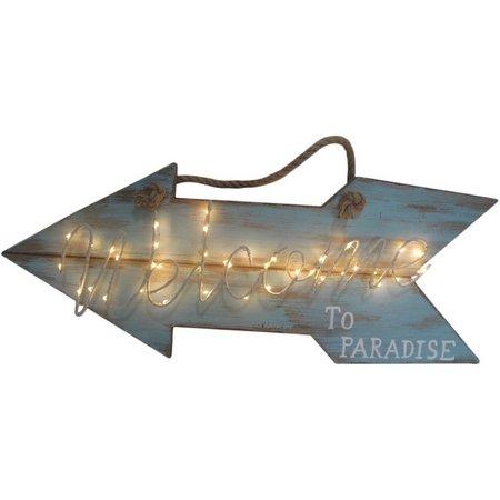 Fancy That Seafoam Mist LED Welcome Arrow Plaque