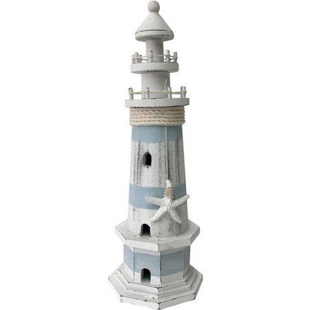 Fancy That Seafoam Mist Small Starfish Lighthouse Figurine