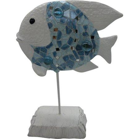 Fancy That Seafoam Mist Metal Fish Figurine