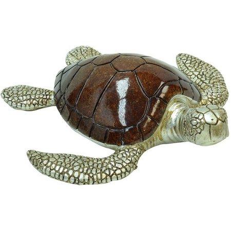 Fancy That Tiki Time Large Sea Turtle Figurine