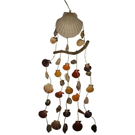Fancy That Tiki Time Scallop Shell Wind Chime