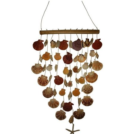 Fancy That Tiki Time Clam Shell Wind Chime