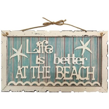 Fancy That Life Better At Beach Wall Sign