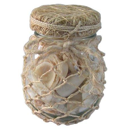Fancy That Decorative Seashell Mason Jar