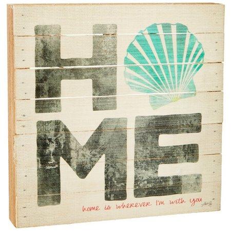 Artistic Reflections Shell Home Plank Box Art