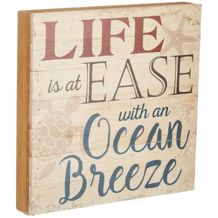 Artistic Reflections Ocean Breeze Box Wood Sign