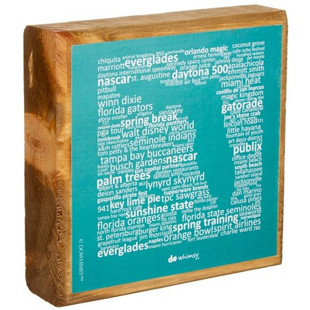 Artistic Reflections Florida Teal Wood Block