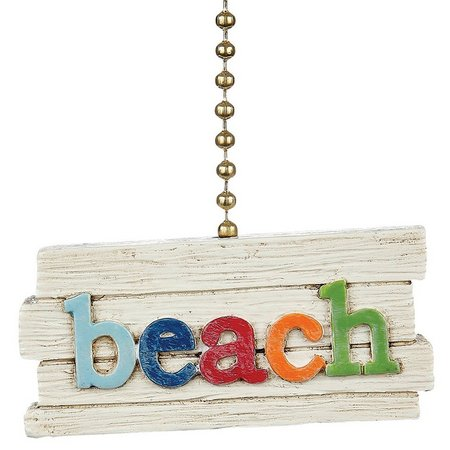 Clementine Design Beach Sign Fan Pull
