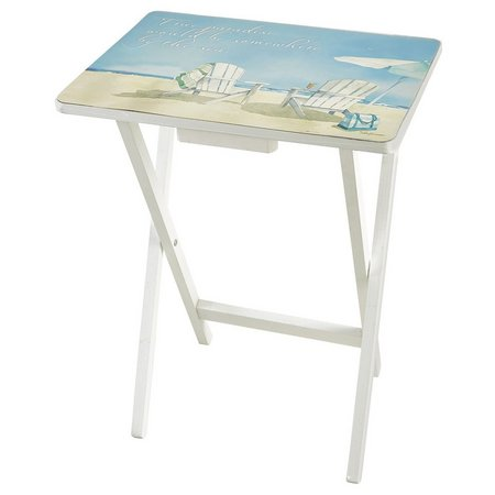 Evergreen True Paradise Adirondack TV Tray Table