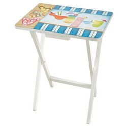 Evergreen Tropical Drinks TV Tray Table