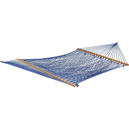 BLISS HAMMOCKS 2 Person Blue Rope Hammock