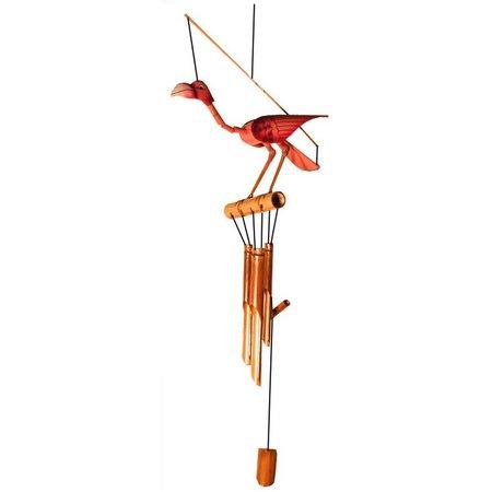Chesapeake Bay Wood Flamingo Wind Chime