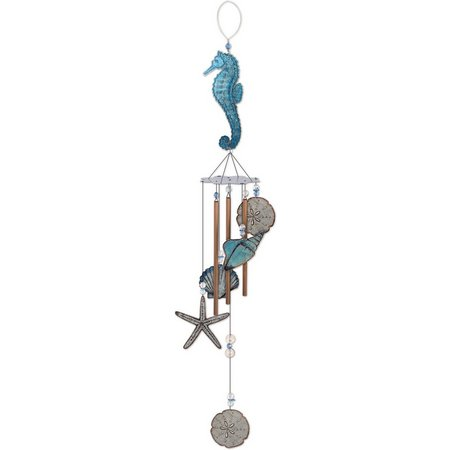 Sunset Vista Seahorse Metal Wind Chime