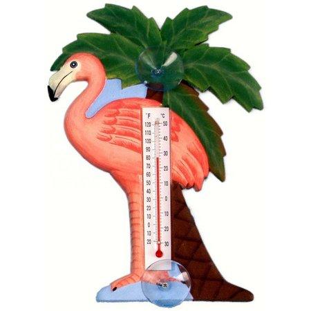Songbird Essentials Flamingo Palm Thermometer