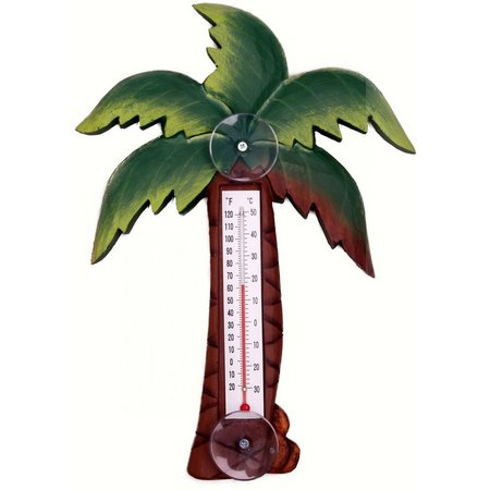 Songbird Essentials Palm Tree Patio Thermometers