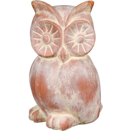 Home Essentials Terracotta Owl Garden Statue