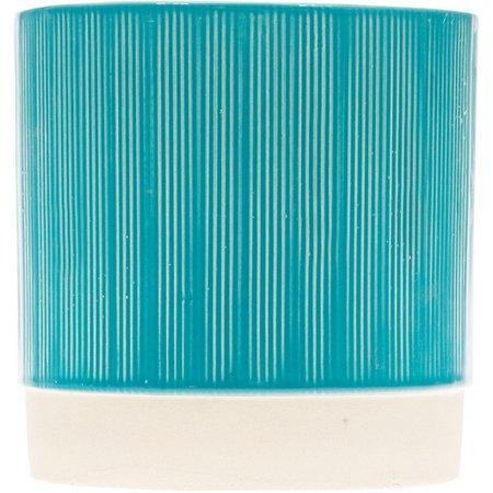 Home Essentials 5'' Aqua Textured Planter