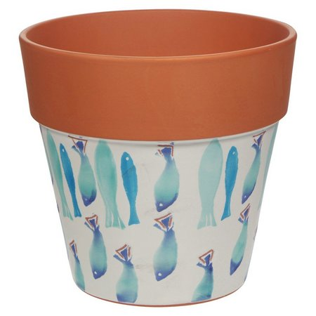 Home Essentials Fish Terracotta Planter