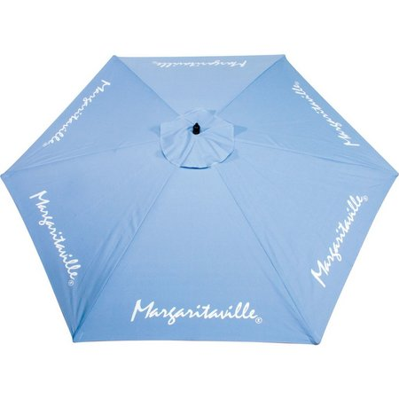Margaritaville 9' Light Blue Market Umbrella