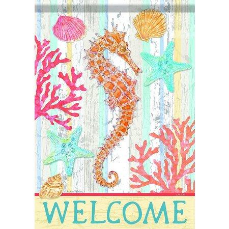 Carson Home Accents Garden Seahorse Garden Flag