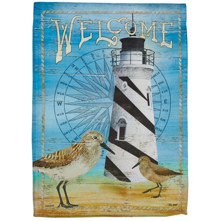 Carson Home Accents Sandpiper Lighthouse Garden Flag