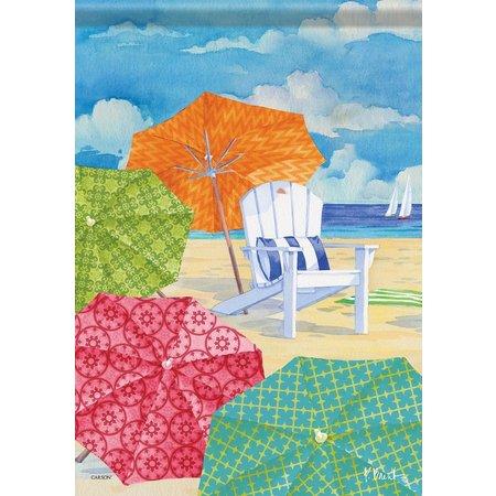 Carson Home Accents Sunnyside Umbrella Garden Flag