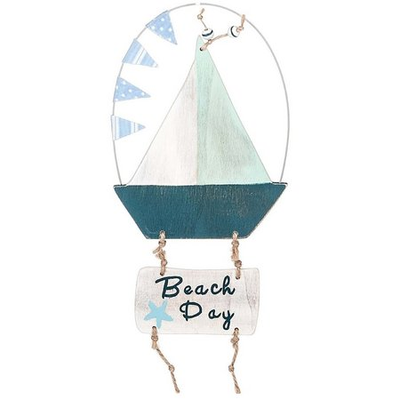 Midwest Beach Day Sailboat Ornament