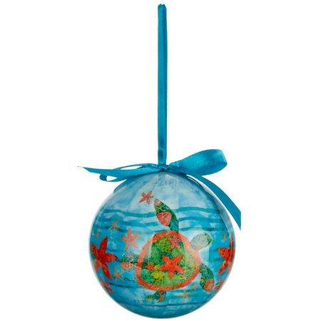 Brighten the Season Holiday Nassau Turtle Ornament