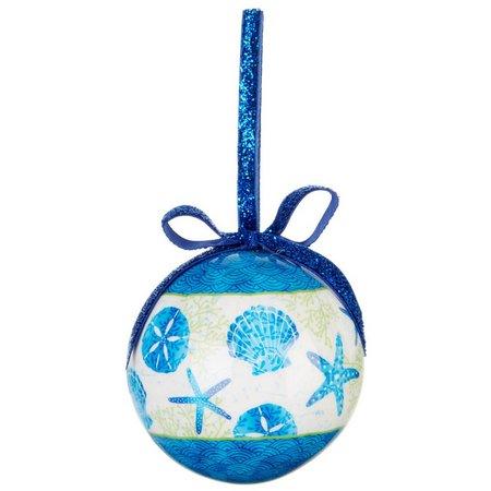 Brighten the Season Beach Batik Ball Ornament