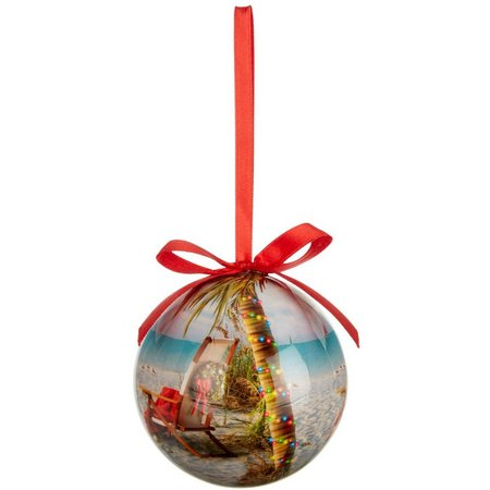 Brighten the Season Festive Palm Tree Ornament