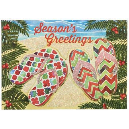 Brighten the Season Sarasota Sandals Xmas Cards